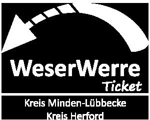 mhv · Minden-Herforder Verkehrsgesellschaft (mhv) · Logo Weser-Werre-Ticket